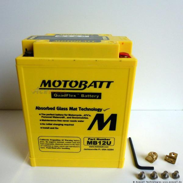 4-polig 15 Ah Motobatt MB12U