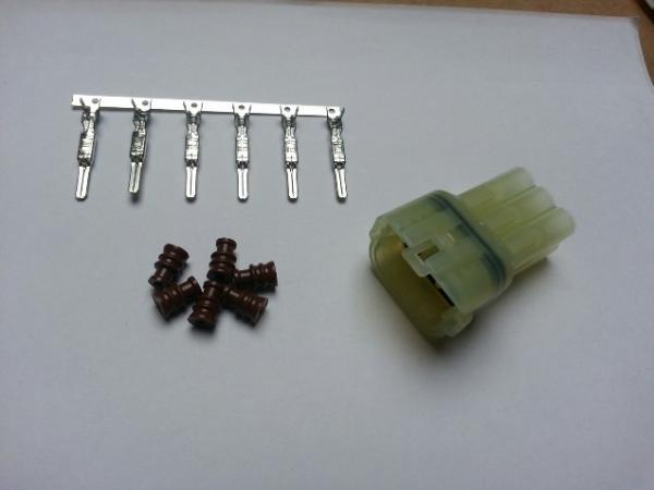 Wasserdichter Steckersatz klar (6-Pin)