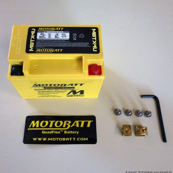2-polig 4,7 Ah Motobatt MBTX4U