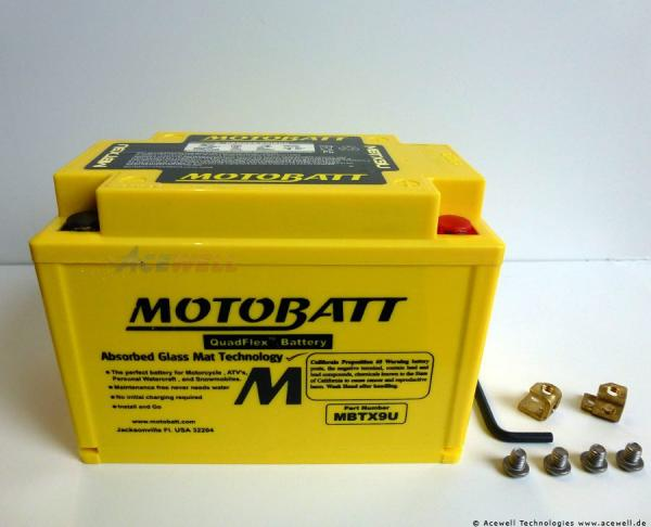 4-polig 10,5 Ah Motobatt MBTX9U