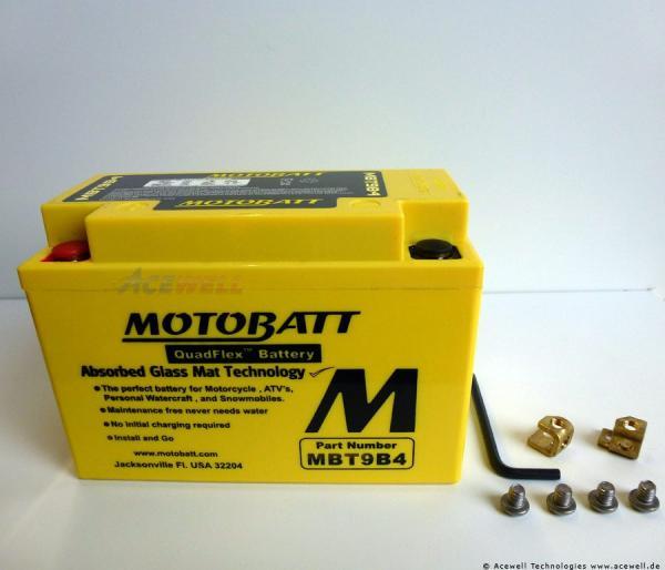 4-polig 9 Ah Motobatt MBT9B4