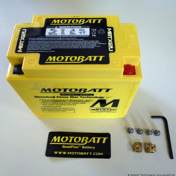 4-polig 14 Ah Motobatt MBTX12U