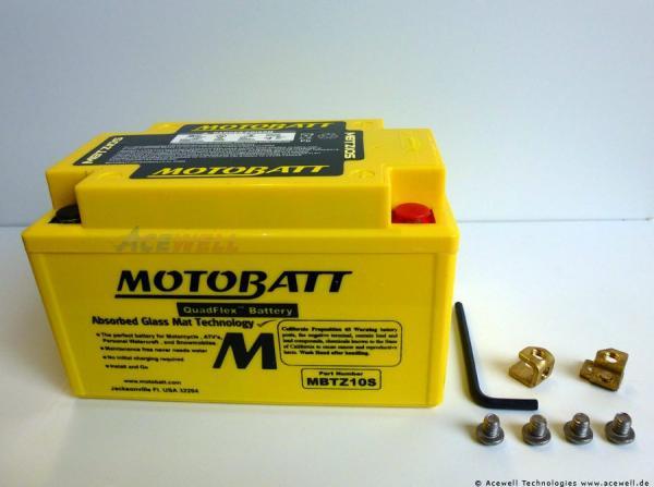 4-polig 8,6 Ah Motobatt MBTZ10S
