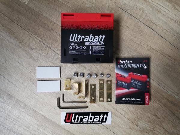 Ultrabatt multiMIGHTY (LiFePO4) 12V - 2,5A / 150CCA / 200PCA, ähnlich einer 8Ah Bleibatterie