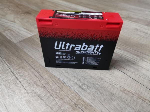 Ultrabatt multiMIGHTY LiFePO4, 12V - 5.0A, 64WH, 300CCA / 400PCA ähnlich einer 16Ah Blei-Batterie